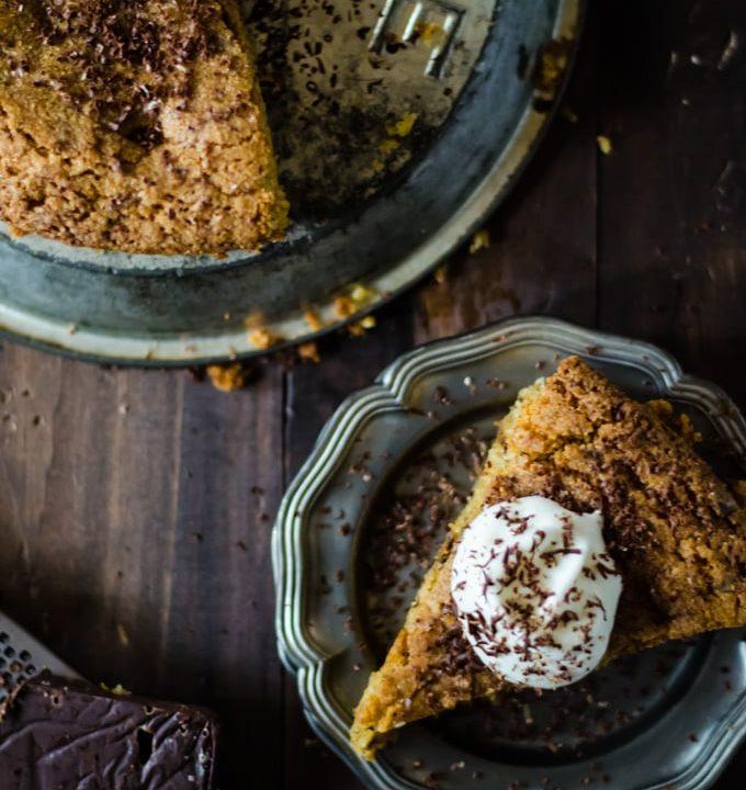 The best dessert ever: chocolate orange polenta cake with hazelnuts