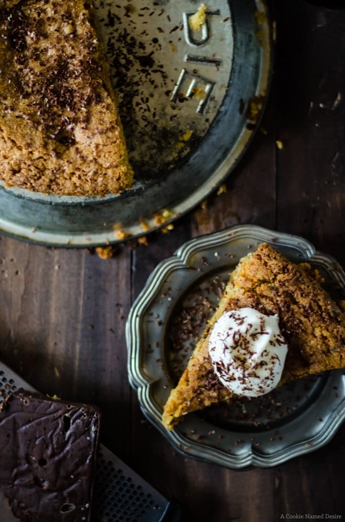 The best dessert ever: chocolate orange polenta cake with hazelnuts