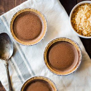 no bake chocolate pudding pies