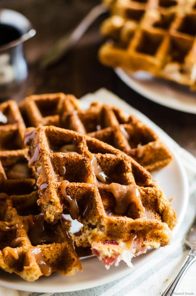 apple bread + waffles = the best thing to happen to your mornings