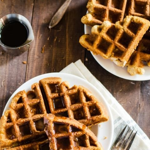 You are going to fall head over heels over these apple bread waffles!