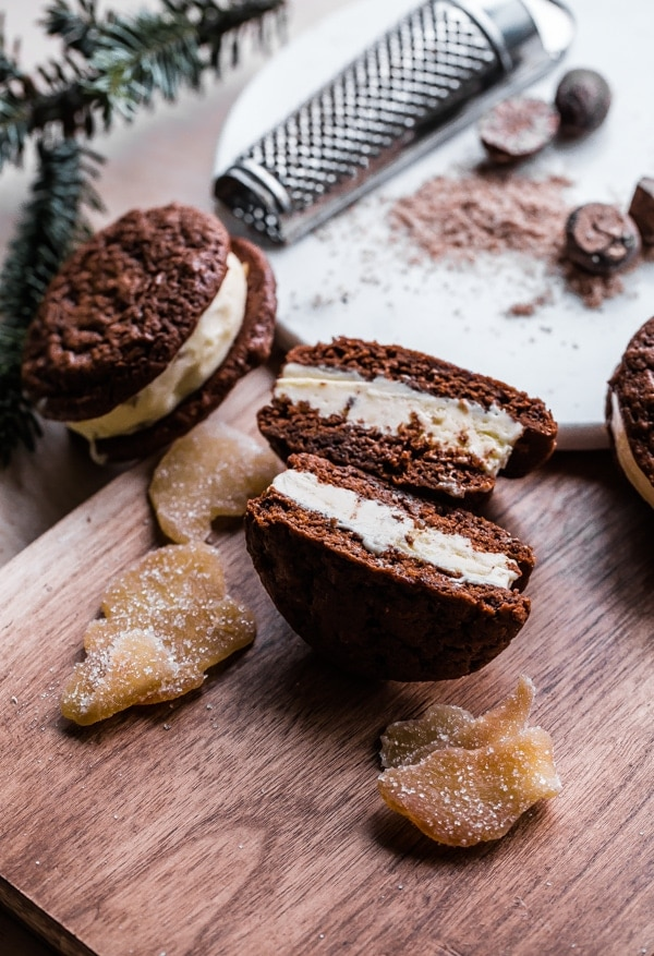 gingerbread ice cream sandwhich