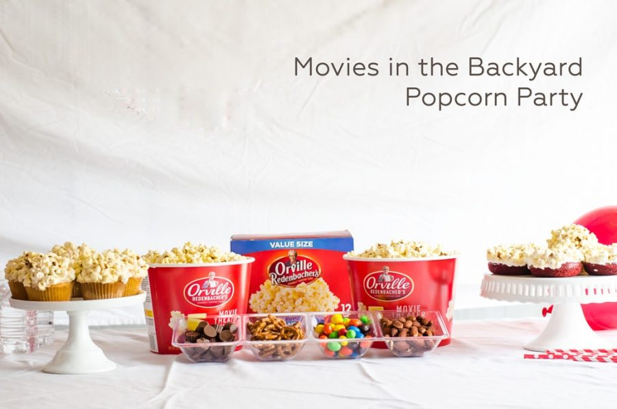 Popcorn snack bar with Orville Redenbacher's popcorn