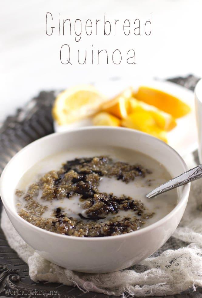 gingerbread quinoa