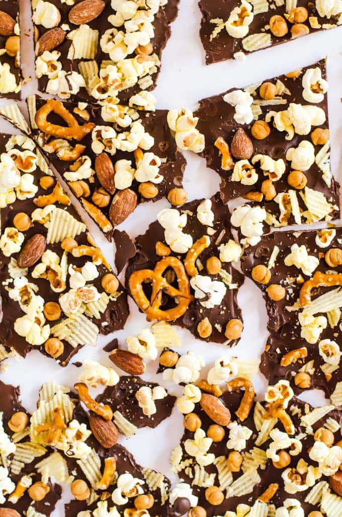 Munchy bark is the perfect movie time snack or when you and your friends get the munchies!