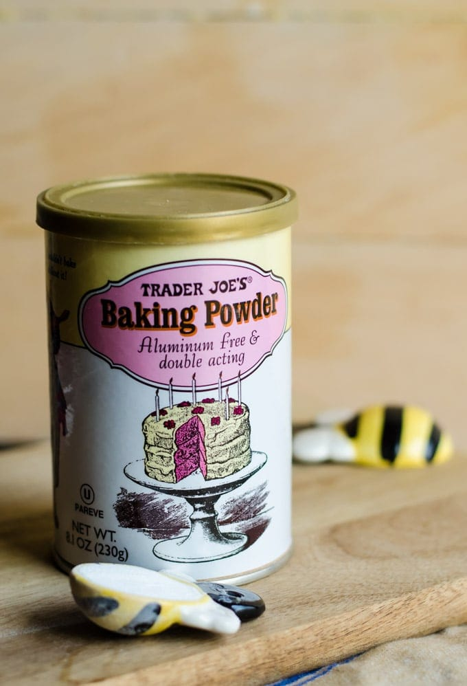 baking powder in container