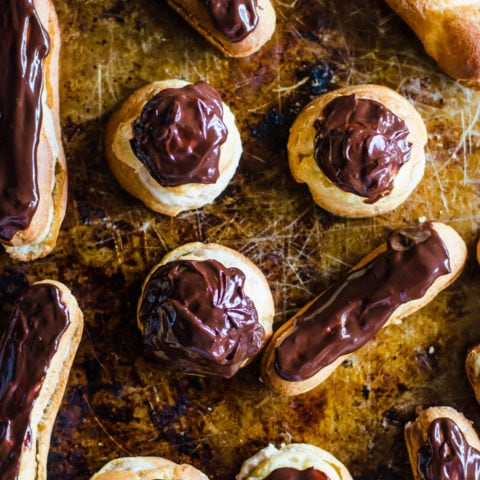 These chestnur cream eclairs are a delightfully flavorful treat to pair with coffee