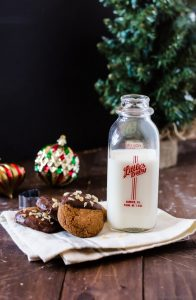 Warm and chewy triple ginger spice cookies. The perfect dessert to leave out for Santa this Christmas!