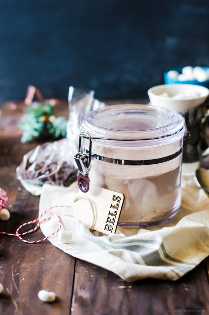 Learn how to whip together a big jar of hot chocolate cake mix - perfect for gift giving or even for yourself!