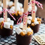 Mocha Salted Caramel Hot Chocolate On a Stick