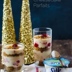 Vegan No-Bake Cheesecake Parfait with Cranberry Swirl