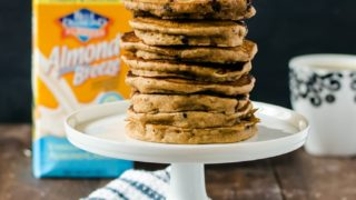 Fluffiest Whole Wheat Chocolate Chip Pancakes with Cashew Milk