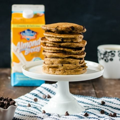 The thickest, fluffiest whole wheat chocolate chip pancakes you will ever taste. The perfect Saturday morning breafast