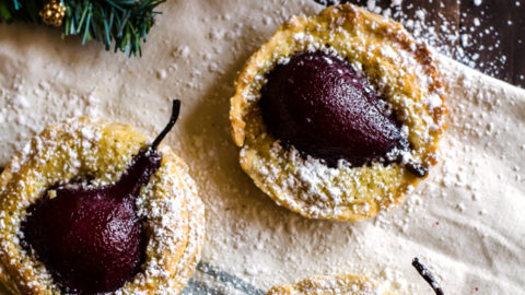 Poached Pear Tart Recipe