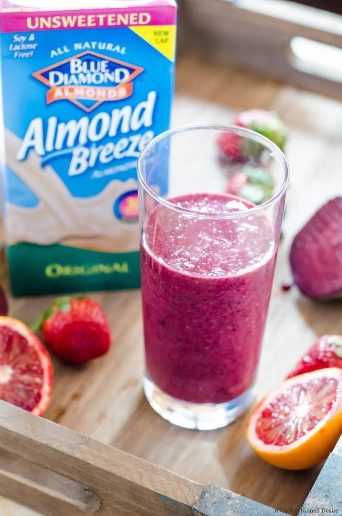 Blood orange beet smoothie. The best way to start your morning, or even for a post-workout snack!