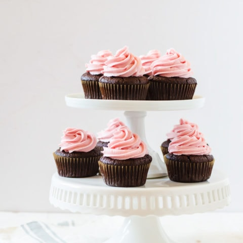 Sweet and vibrant blood orange chocolate cupcakes filled with a creamy blood orange curd. A delectable dessert your friends will be begging for the recipe!