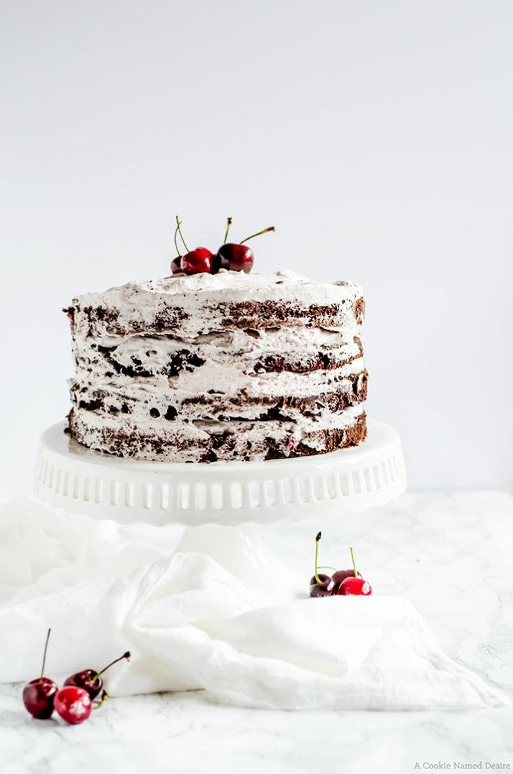 Strange Chocolate Cherry Cake A Cookie Named Desire Birthday Cards Printable Giouspongecafe Filternl
