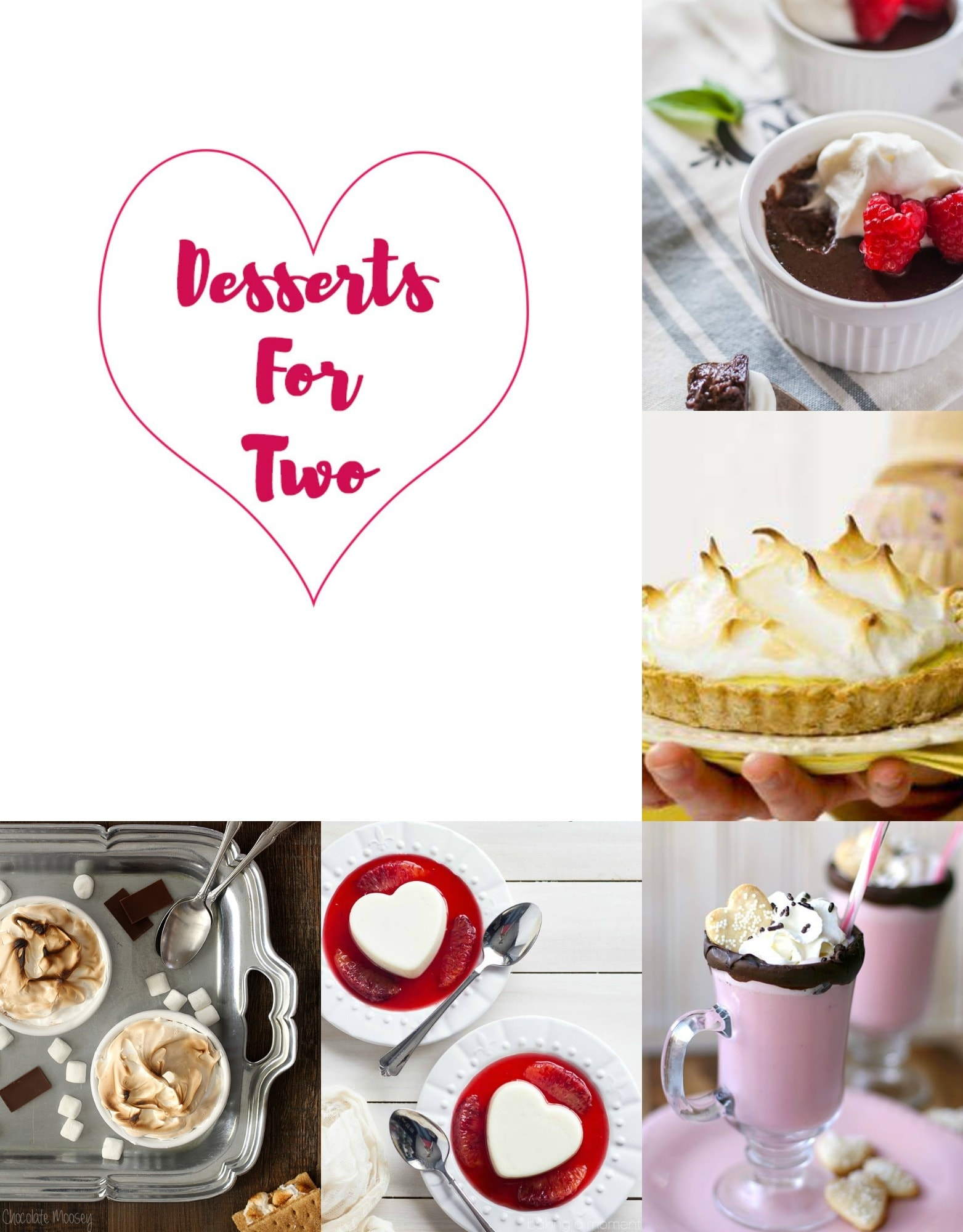 desserts for two collage