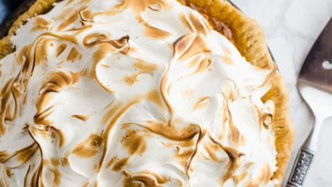 Cape Gooseberry Pie with Mile High Meringue
