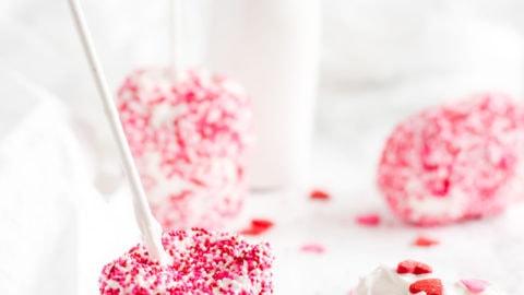 White Chocolate Homemade Marshmallow Pops