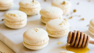 Chamomile and Caramelized Honey Macarons
