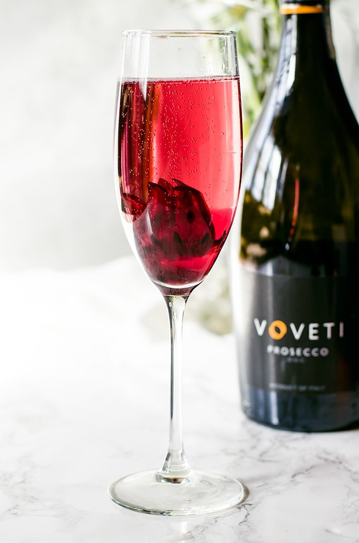 This hibiscus rose prosecco is an elegantly simple and visually stunning cocktail your guests will love. The delicate flavors and gorgeous hue embody everything wonderful about spring.