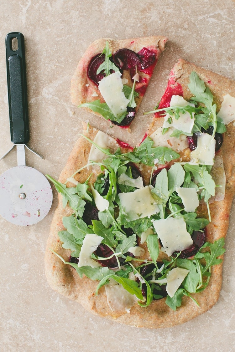 whole wheat pizza beets