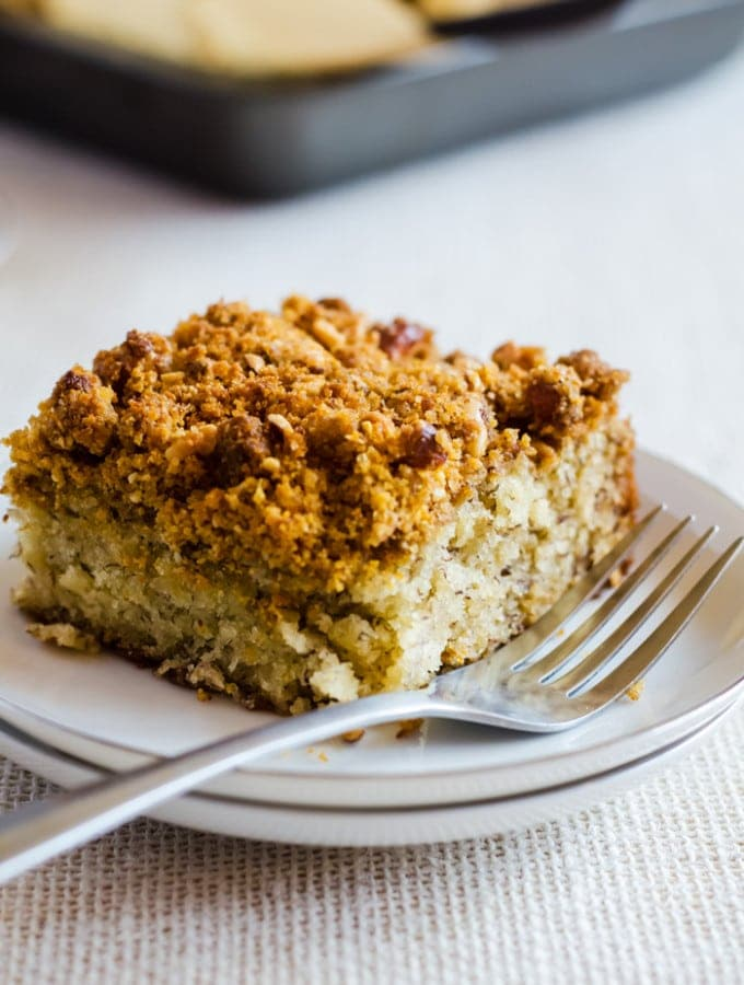 Banana Coffee Cake with Graham Cracker Streusel