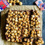 Chocolate Caramel Fudge with Cracker Jack Popcorn