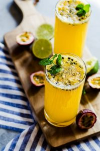 This passion fruit mojito is the perfect tropical summer drink for parties and weekend BBQs.