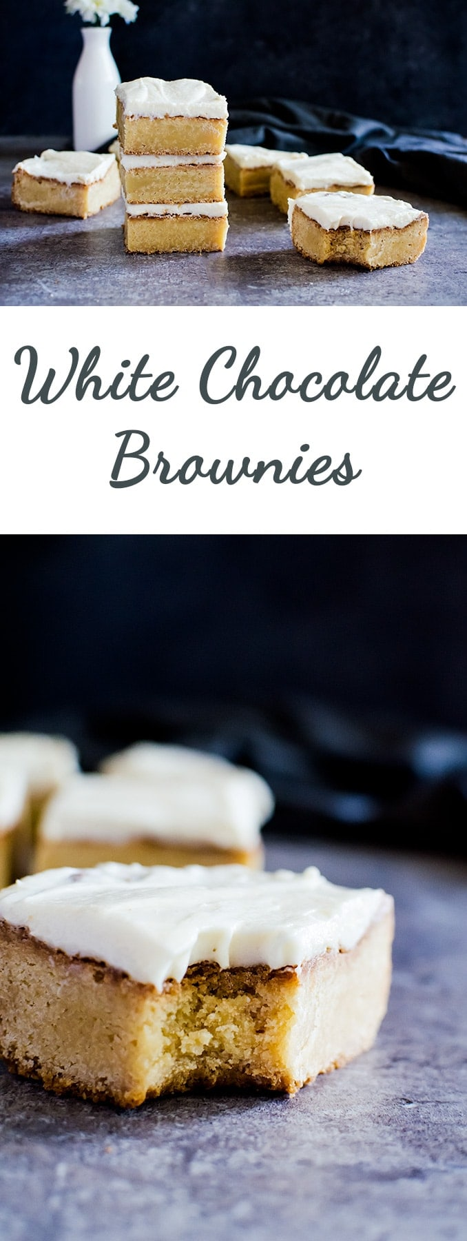 A wonderfully irresistible white chocolate brownie