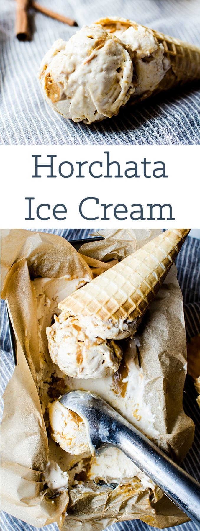 Cool down this summer with a creamy horchata ice cream with dulce de leche swirl
