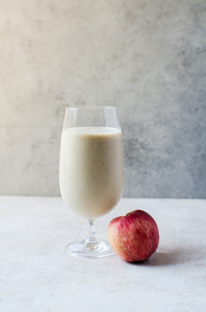 An irresistible roasted peach smoothie