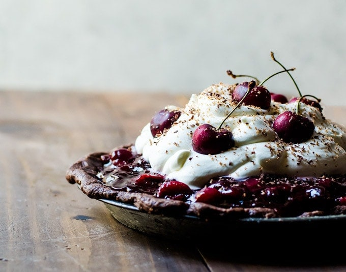 A pie that is both light and rich. Decadent and fruit. This black forest pie is bound to be a new family favorite.