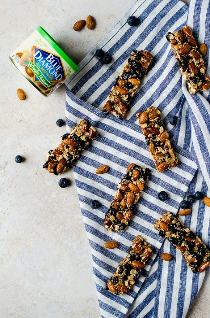 A healthy way to snack: these blueberry vanilla almond bars are all you need to stay focused and fueled