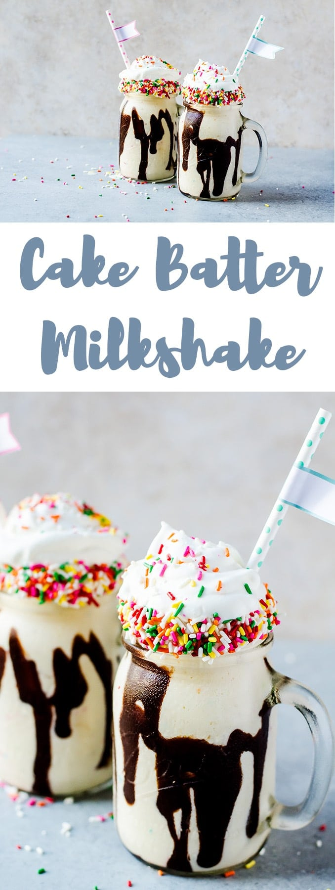 There is nothing better than a cake batter milkshake and pretending that every day is your birthday. This delicious shake is only three ingredients!
