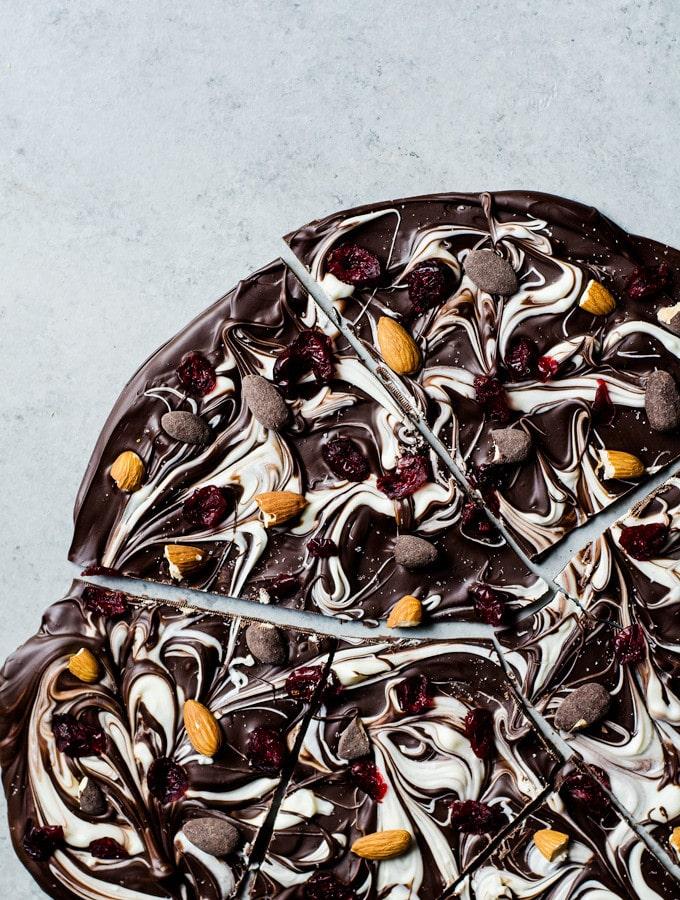 Salted Chocolate Almond Bark