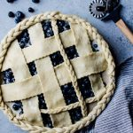 This gorgeous blueberry buttermilk pie with ginger is an incredible dessert everyone will love