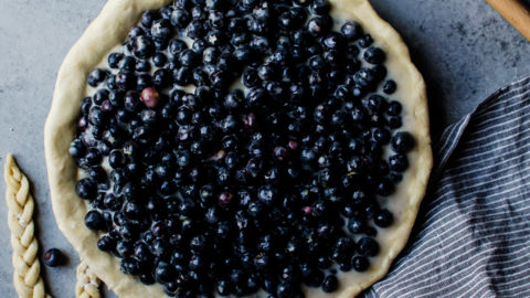 Blueberry Buttermilk Pie with Ginger
