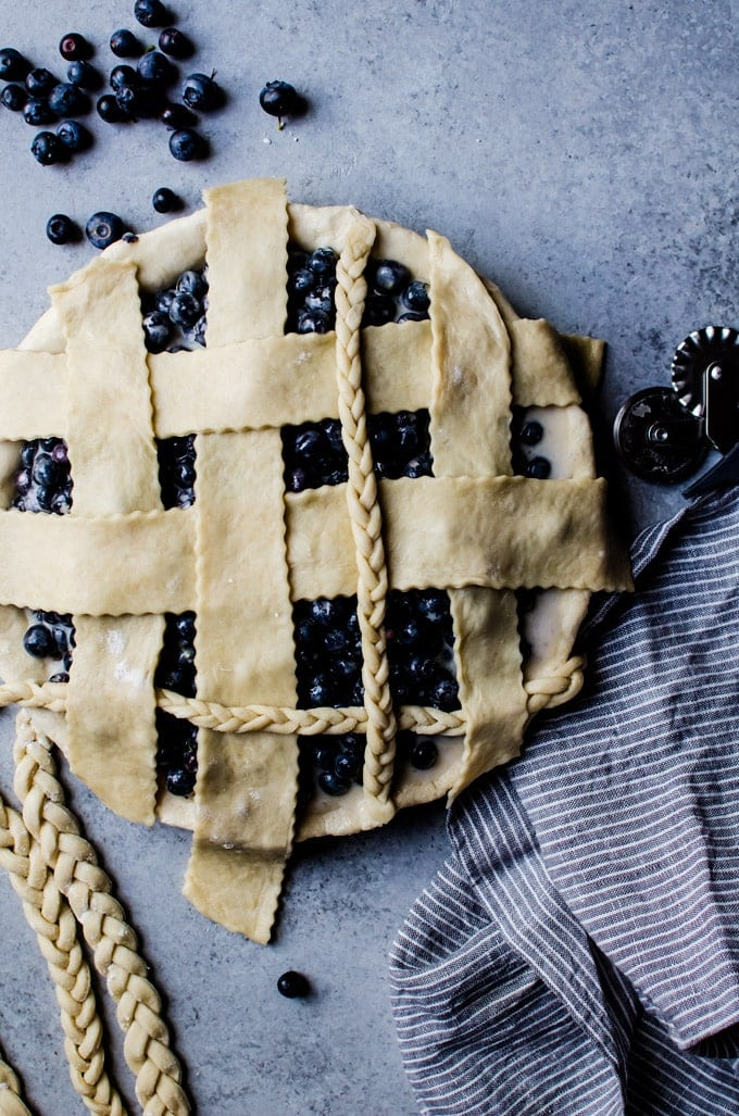 An irresistible blueberry buttermilk pie with notes of ginger. This tasty pie is a guaranteed to be a favorite!