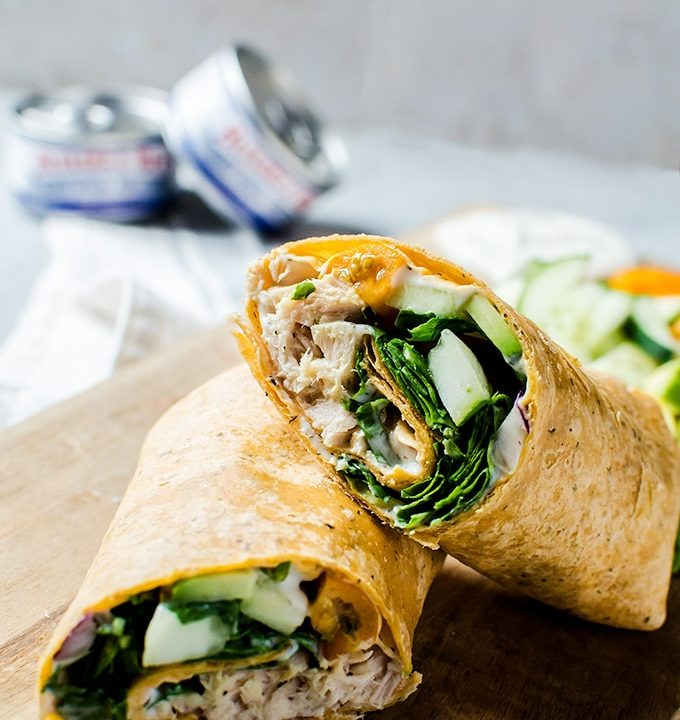 A mouth watering, kid-approved Greek tuna wrap that you will want to make for lunch every week!
