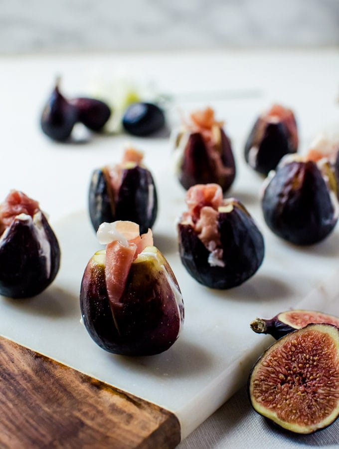 These prosciutto stuffed figs make an incredible appetizer for parties and get togethers