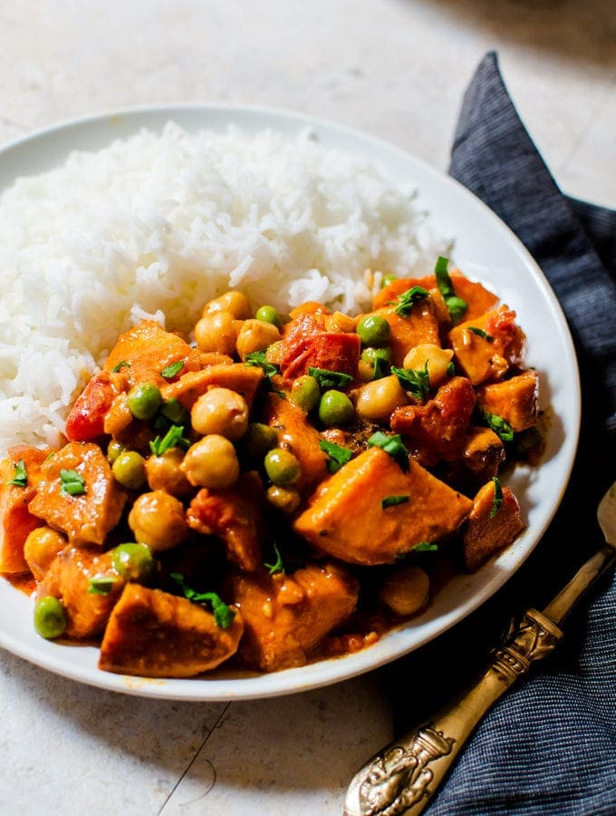 A simple and delicious sweet potato curry