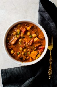 An easy sweet potato curry that is as easy to make as it is to eat.