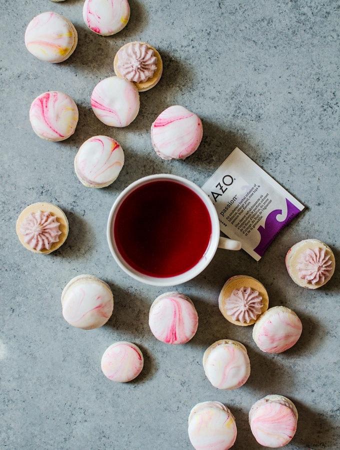 Sip Joyfully with Tazo Tea and Vanilla Bean Macarons