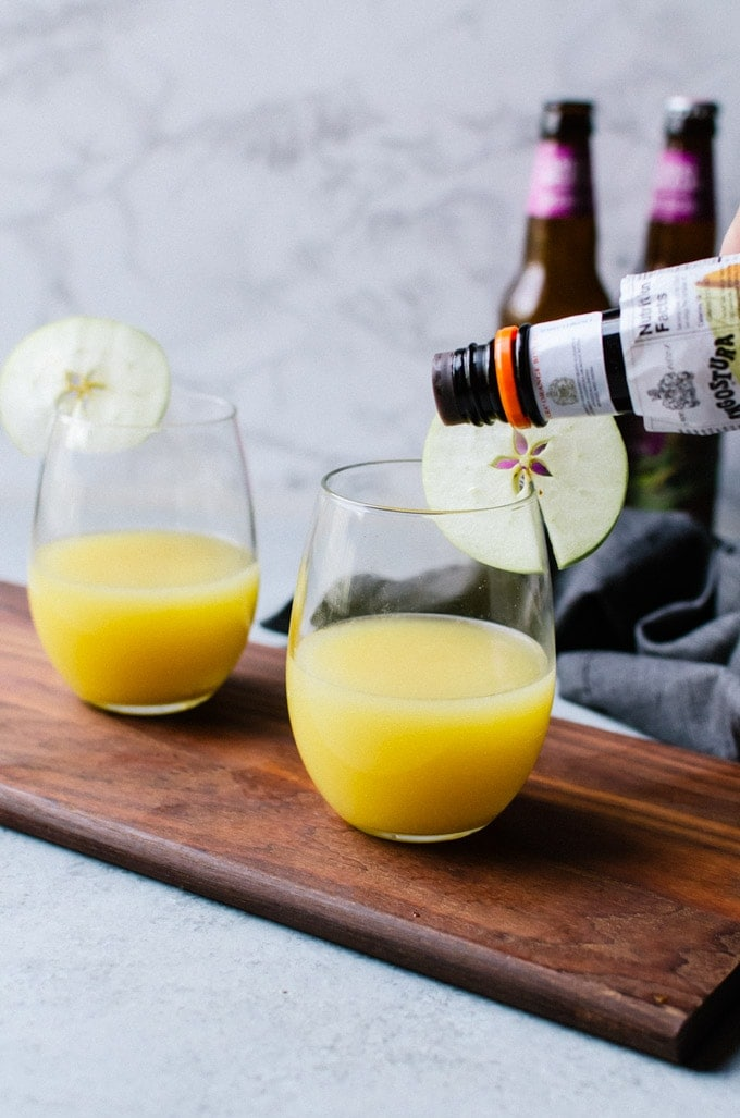 Apple cider mimosas. The best way to brunch this fall.
