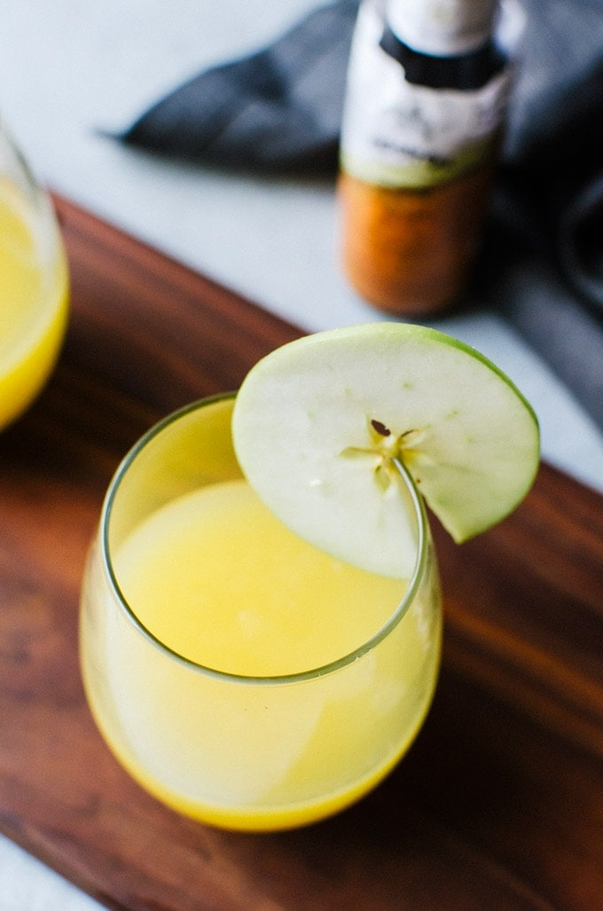 This simple apple cider mimosa is great for enjoying any time of day!