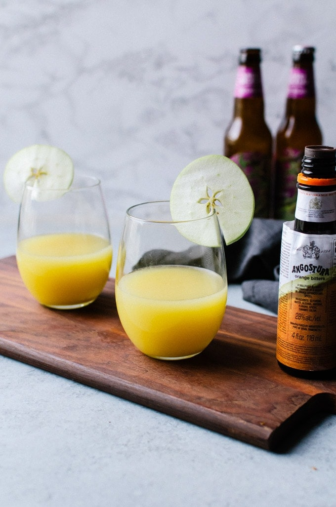 Brunch gets a tasty fall makeover with these apple cider mimosas!