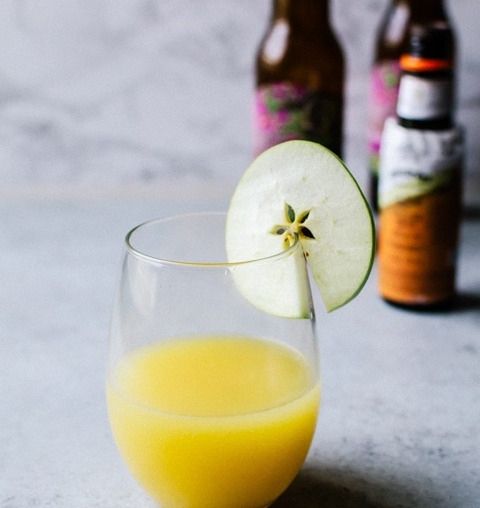 There is no better way to enjoy fall than this apple cider mimosa