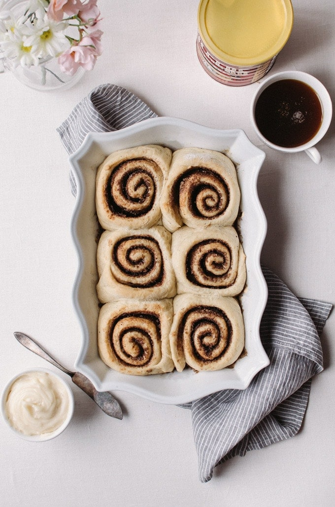 These coffee cinnamon rolls are a modern day twist on your favorite breakfast treat!
